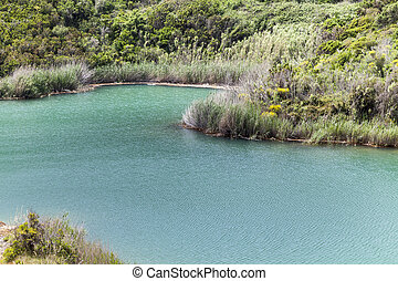 Small lake, Terranera, Elba, Italy - Porto Azzurro, the...