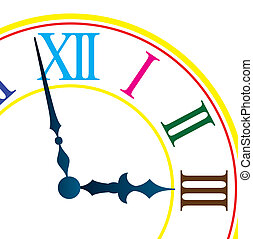 Dial of hours. Vector illustration