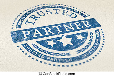 Trust in Business Partnership Background - Trusted partner...