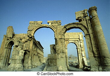 SYRIA PALMYRA ROMAN RUINS - the Roman Ruins of Palmyra in...
