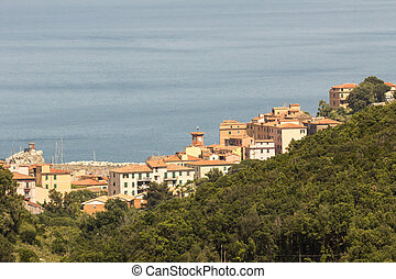 Rio Marina, Elba, Tuscany, Italy - Village of Rio Marina,...