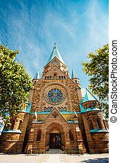 Building Of Sofia Kyrka - Sofia Church In Stockholm, Sweden...
