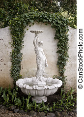 garden fountain statue - beautiful fountain statue in garden...