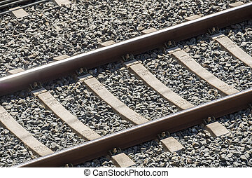 Top view of the train tracks