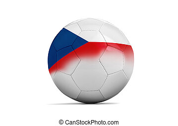 Czech - Soccer balls with team flags, Football Czech-...