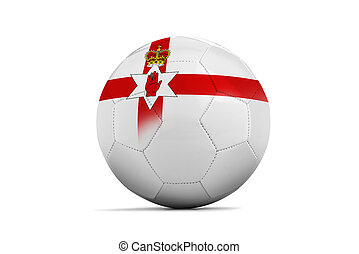 Euro 2016 Group C, North Ireland - Soccer balls with team...