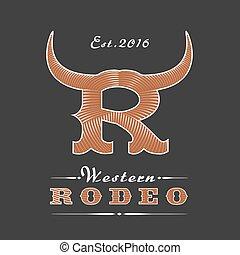 Rodeo vector logo