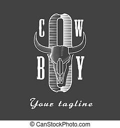 Cowboy vector concept logo template
