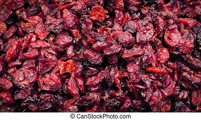 Delicious Cranberries Pile Rotating - Lots of cranberries...