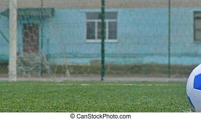 soccer ball on soccer field