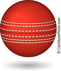 Cricket ball - cricket ball isolated on a white background...