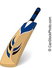 Cricket bat - cricket bat isolated on a white background...