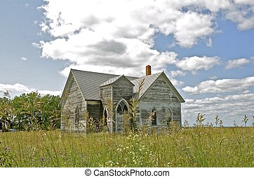 Old white country church