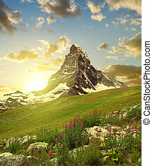 Matterhorn in the sunset