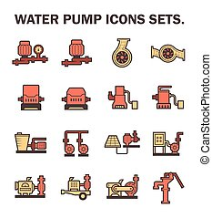 Water pump icons - Water pump vector icons sets design