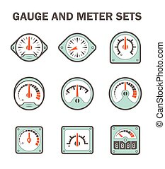 Gauge meter icons - Gauge meter vector icons sets design on...