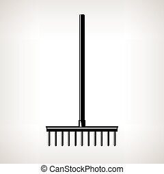 Garden Rake, Garden Equipment - Rake, a Bow Rake for Soil...