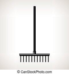 Garden Rake, Garden Equipment - Rake, a Bow Rake for Soil...