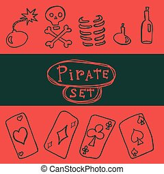 Set of pirate icon