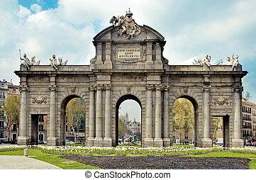 Puerta de Alcala, Madrid - a view of Puerta de Alcala, in...