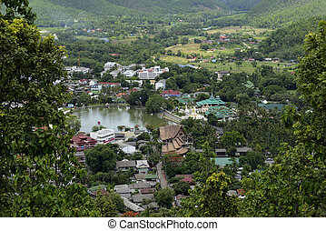 ASIA THAILAND MAE HONG SON - The landscape and the village...