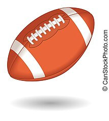 football ball - football on white background with shadow