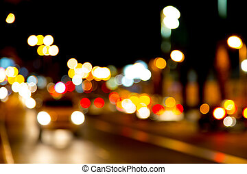 City lights on the street in Eilat