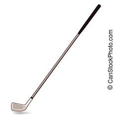 Golf club - single golf club on white background with shadow