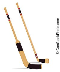 Hockey stick and goalie stick - hockey and goalie sticks on...