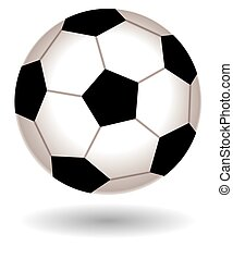 Soccer ball - soccer ball on white background with shadow
