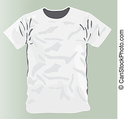 White T-shirt design template front