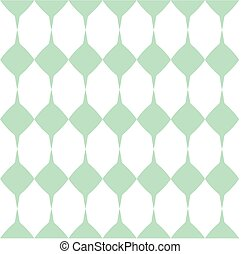 Tile mint green and white vector pattern or website...