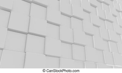White Cube background 4K 100 loop - Cube minimal background...