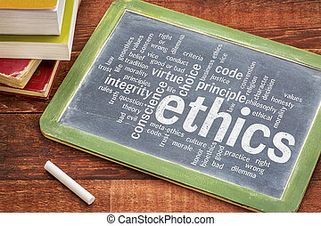 ethics and moral dilemma word cloud