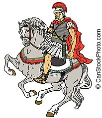 roman warrior on the horse