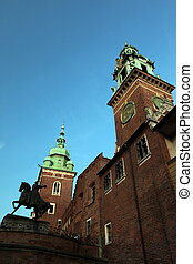 EUROPE POLAND CRACOW HAWAL - the Wawel Royal Castle on a...