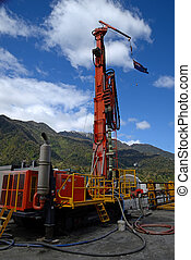 Find the fault - Drilling rig on the Deep Fault Drilling...