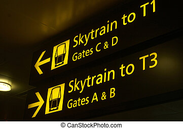 go this way - Airport directions at Singapores Changi...