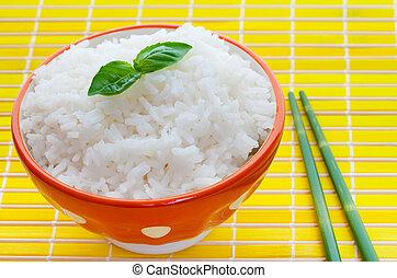 tazón, arroz