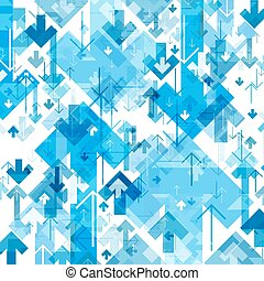 Blue Arrows Chaotic Pattern Abstract background