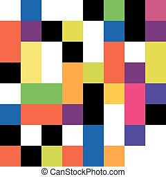 Square colorful background seamless. Vector pattern.
