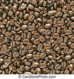 Coffee beans seamless background - Texture pattern for...