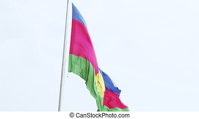 Flag of Krasnodar Krai - Waving on wind Flag of Krasnodar...