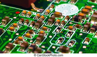 Circuit Board With Microchips - Electronic Circuit Board...