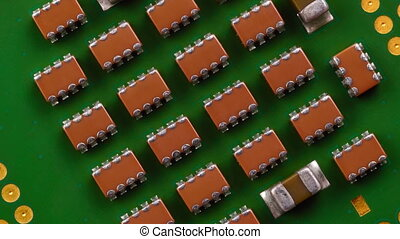 Central Processing Unit CPU, Close Up 4K Video