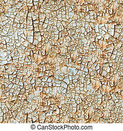 Cracked paint seamless background.