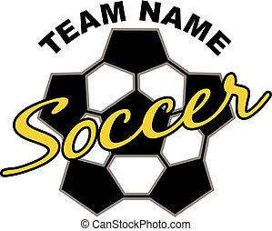 soccer team design with abstract soccer ball for school,...