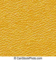 Yellow leather seamless background - Texture pattern for...