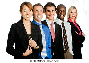 Business Professionals - A group of young, attractive and...