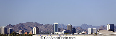 Panorama of Phoenix, AZ - Cityscape of Phoenix Downtown...